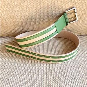 Micheal Kors Canvas/Leather Belt